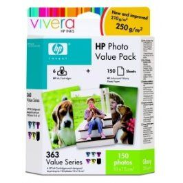 HP č. 363 - value photo pack + 150 ks 10x15, Q7966EE - originál
