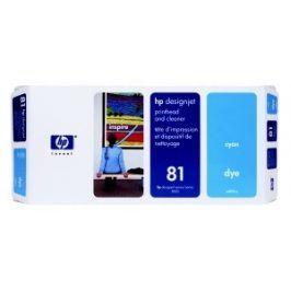 HP no 81 - modrá a čistící tisk. hlava, C4951A