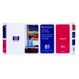 HP no 81 - červená a čistící tisk. hlava, C4952A