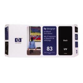 HP no 83 - černá tisk. a čistící hlava, UV, C4960A
