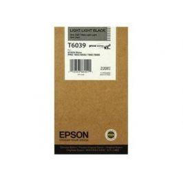 Epson T6039, Light light black, C13T603900 - originál
