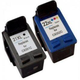 Náplně do tiskárny HP C9351CE + HP C9352CE, (HP 21 XL + HP 22 XL) - kompatibilní