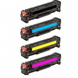 Tonery HP CF380X + CF381A + CF382A + CF383A - Multipack, kompatibilní