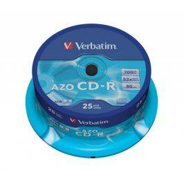 Verbatim CD-R DataLife Protection 52x, 25ks cakebox