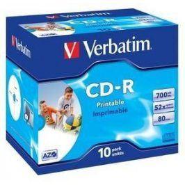 Verbatim CD-R Imprimable AZO 52x, Printable 10ks v krabičce