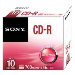Sony CD-R 10ks v SLIM krabičce