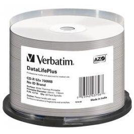 VERBATIM CD-R (50-Pack) /52x /700MB /ThermoPrint /NoID