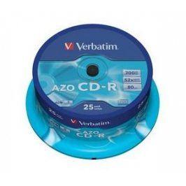 VERBATIM CD-R (25-Pack) Cake /Crystal /52x /700MB