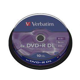Verbatim DVD+R 8x, Dual Layer 10ks cakebox