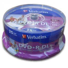 Verbatim DVD+R 8x Dual Layer Printable 25ks cakebox