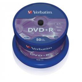 VERBATIM DVD+R (50-Pack) ,Spindl /MattSlvr /16x /4.7GB