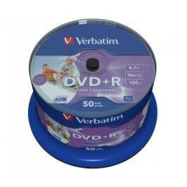 Verbatim DVD+R 16x, Printable 50ks cakebox