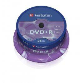 Verbatim DVD+R 16x, 25ks cakebox