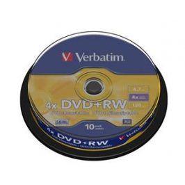 10ks DVD+RW 4,7GB Verbatim 4x