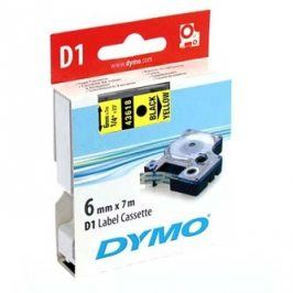 Dymo originální páska do tiskárny štítků, Dymo, 43618, S0720790, černý tisk/žlutý podklad, 7m, 6mm, D1