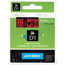 Dymo originální páska do tiskárny štítků, Dymo, 45017, S0720570, černý tisk/červený podklad, 7m, 12mm, D1