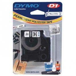 Dymo originální páska do tiskárny štítků, Dymo, 16960, S0718070, černý tisk/bílý podklad, 5.5m, 19mm, D1, speciální - permanentní