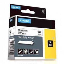 Dymo originální páska do tiskárny štítků, Dymo, 18489, černý tisk/bílý podklad, 3.5m, 19mm, RHINO nylonová flexibilní