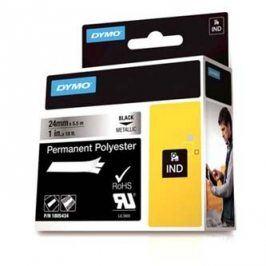 Dymo originální páska do tiskárny štítků, Dymo, 1805434, černý tisk/metalický podklad, 5.5m, 24mm, RHINO permanentní polyesterová