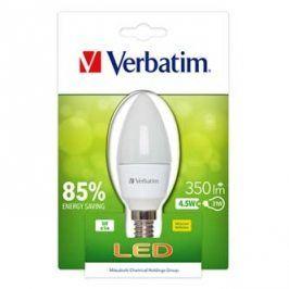 LED žárovka Verbatim E14, 52602, 220-240V, 4,5W, 350lm, 2700k, matná, 20000h, klasická žárovka, 2835