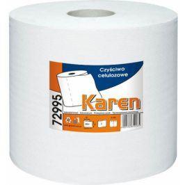 Papírové průmyslové utěrky KAREN, 2-vrstvé bílé, 2 role