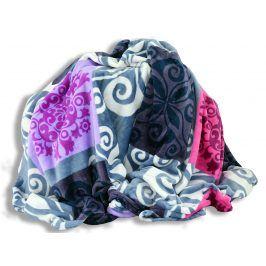 Homeville deka mikroplyš 150x200 cm čtverce se vzory modrá/fialová