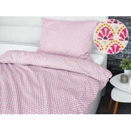 Homeville povlečení 100% bavlna Asta růžová 140x200cm+70x90cm