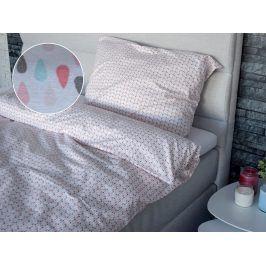 Homeville povlečení 100% bavlna Esteri růžová 140x200cm+70x90cm