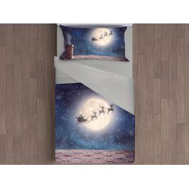 Gipetex Natural Dream 3D italské povlečení 100% bavlna Christmas night - 140x200 / 70x90 cm