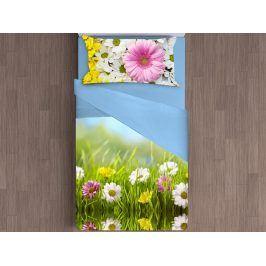 Gipetex Natural Dream 3D italské povlečení 100% bavlna Daisy - 140x200 / 70x90 cm
