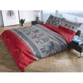 Bierbaum povlečení flanelové 3451 Pixie Red 140x200/70x90 cm