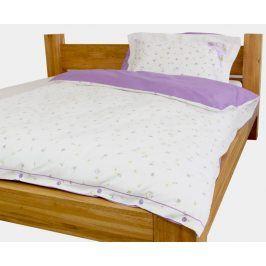 Gipetex Natural Dream Italské povlečení 100% bavlna LUX Viola se dvěma povlaky na polštář - 140x200 / 50x70 + 70x90