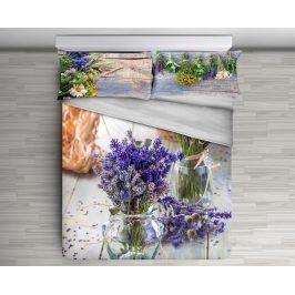 Gipetex Natural Dream 3D italské povlečení 100% bavlna Lavanda - 140x200 / 70x90 cm