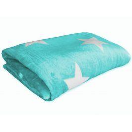 Homeville deka mikroplyš 150x200 cm hvězdičky mátová
