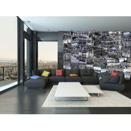 1Wall Kreativní koláž 64 dílů 37,5 x 27,5cm Černobílý New York