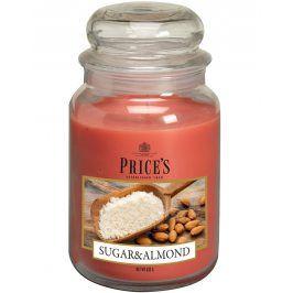 Price´s SIGNATURE MAXI svíčka ve skle Mandle s cukrem, hoření 150h
