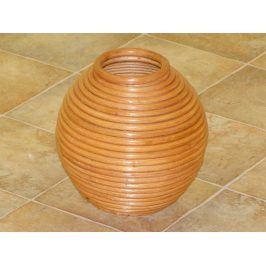Ratanová váza kulatá - odstín olše