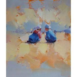 Obraz - Chlapci na pláži