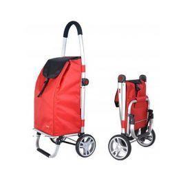 BRILANZ Taška nákupní na kolečkách CARRIE 98 x 48 x 36 cm, skládací, červená