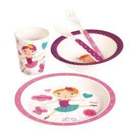 Dětské nádobí zbambusu Tanečnice, set 5 dílů
