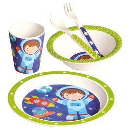 Dětské nádobí z bambusu Astronaut, set 5 dílů