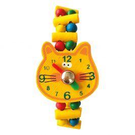 Dřevěné hodinky - Kočka