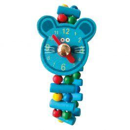 Dřevěné hodinky - Myš