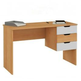 Psací stůl Matyáš 2, olše-bílá gravír