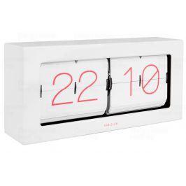 Designové nástěnné/stolní překlápěcí hodiny 5642WH Karlsson 37cm