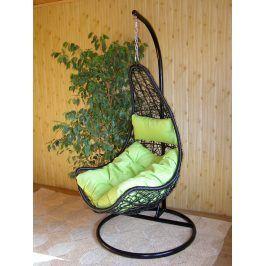 Závěsné relaxační křeslo NELA - zelený sedák