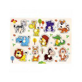 Dřevěné puzzle safari, 11 dílků