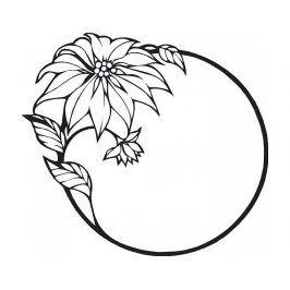Samolepící dekorace Květ 3