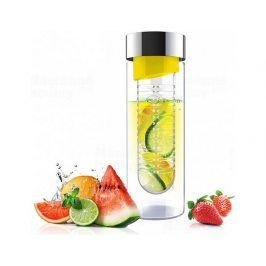 Skleněná láhev s infuserem ASOBU Flavour It yellow/silver 480ml