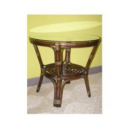 Ratanový obývací stolek BAHAMA - tmavý